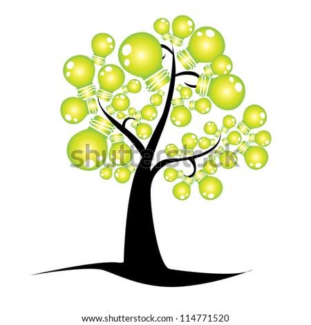 idea tree - stock vector