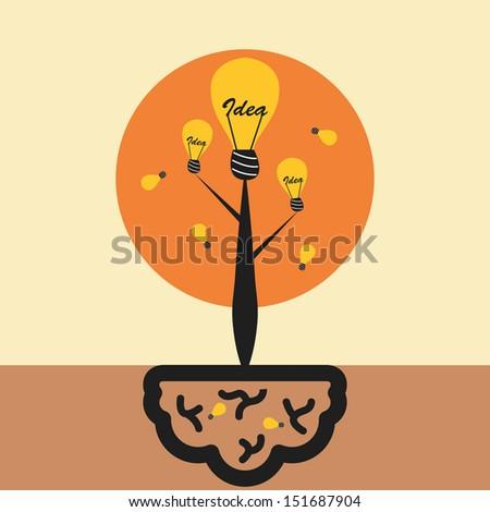 Idea tree concept - stock vector