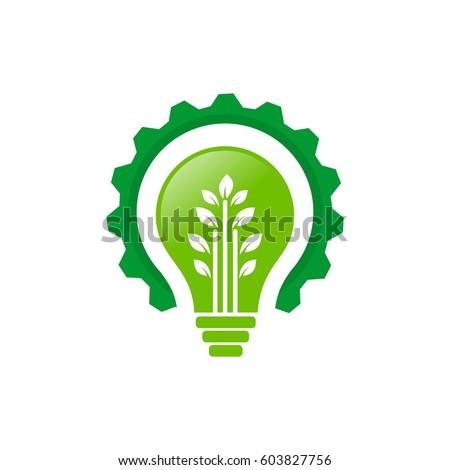 Idea Tree Gear Go Green Logo Stock Vector 603827756 Shutterstock