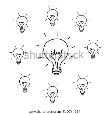 Ideal for depicting ideas or creativeness. Drawing Vector design