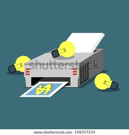 Ideas for print - stock vector