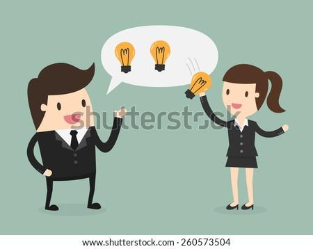 Ideas Sharing  - stock vector