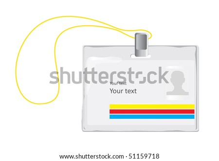 Identification Badge (vector). In the gallery also available XXL jpeg version of this image. - stock vector