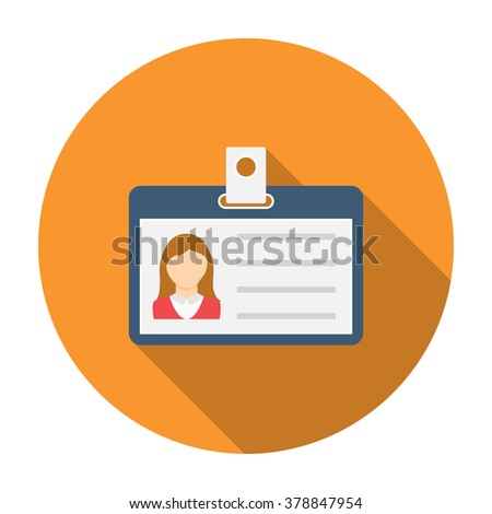 Identification card for woman. Personal badge for woman - stock vector