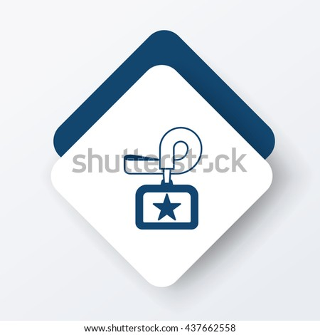 Identification card icon - stock vector