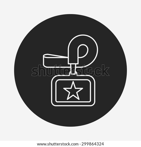 Identification card line icon - stock vector