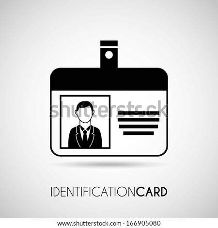 identification card over gray background vector illustration - stock vector