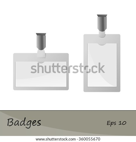 Identification card vector. Badges. Vector illustration on a white background.  - stock vector