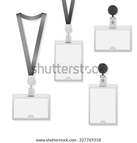 identification card vector illustration isolated on white background - stock vector
