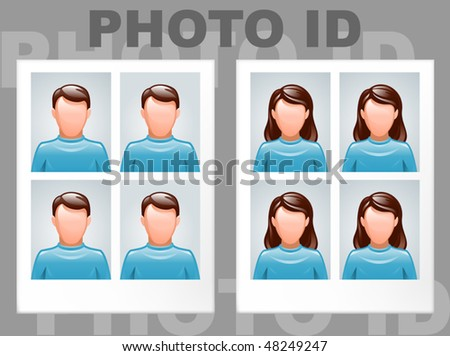identification photo of man and woman