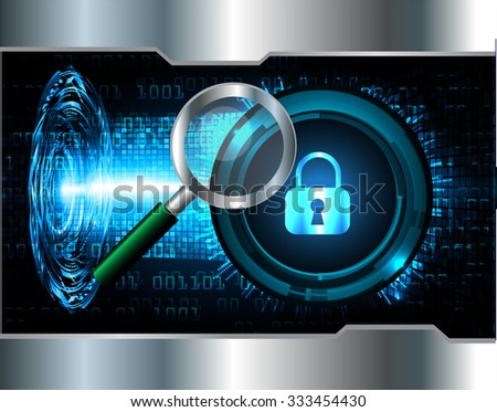 identifying a computer virus. Antivirus protection and computer security concept. PC. one zero. scan. technology digital website. vector. lock, key, Padlock.  - stock vector