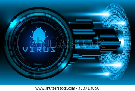 identifying a computer virus. Antivirus protection and computer security concept. PC. one zero. scan. technology digital website. vector. lock, key, Padlock - stock vector