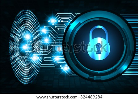 identifying a computer virus. Antivirus protection and computer security concept. PC. vector one zero. scan. technology digital website internet web. lock, key, Padlock - stock vector