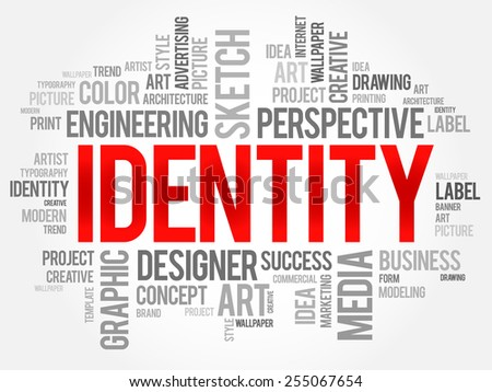 IDENTITY word cloud, business concept - stock vector