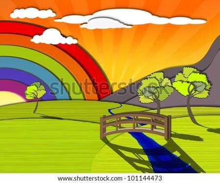 Rainbow Bridge Stock Vectors, Images & Vector Art | Shutterstock