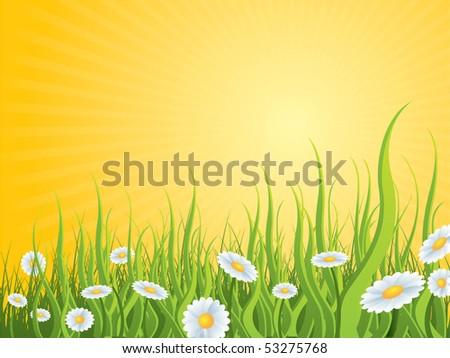 idyllic nature background - stock vector