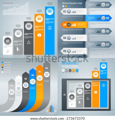 Iinfographic. Set of infographic templates. Vector eps 10. - stock vector