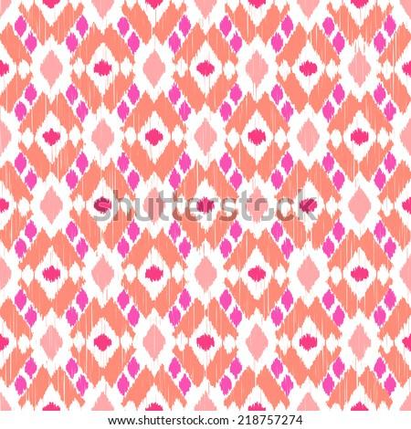 Ikat seamless pattern - stock vector