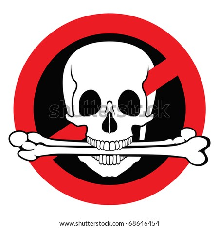 Illegal pirated content free sign - stock vector