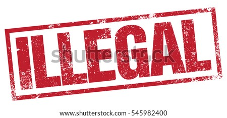 Illegal Stamp Stock Vector HD Royalty Free 545982400