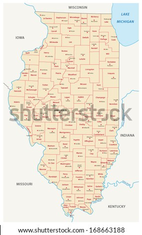 illinois administrative map