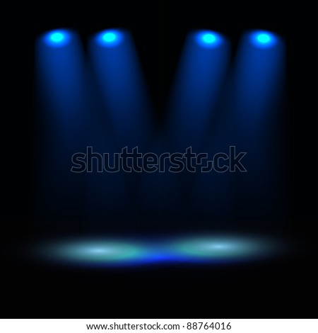 Illuminated stage vector template - stock vector