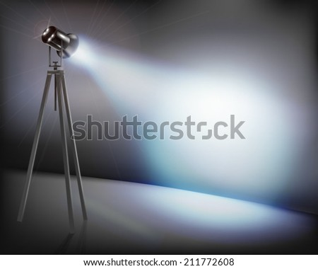 Illuminated wall. Vector illustration. - stock vector