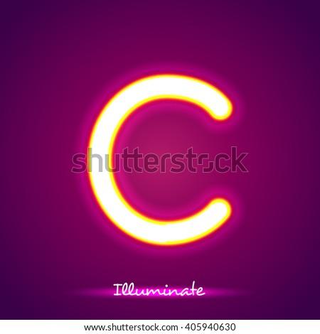 illumination c - stock vector