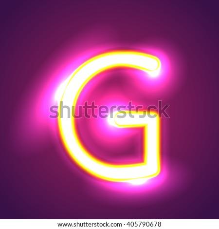 illumination g - stock vector
