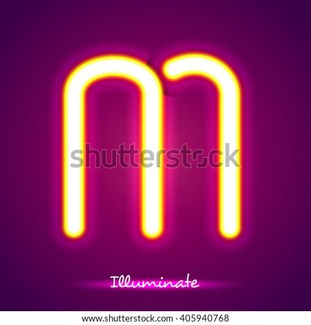 illumination m - stock vector
