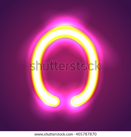 illumination o - stock vector