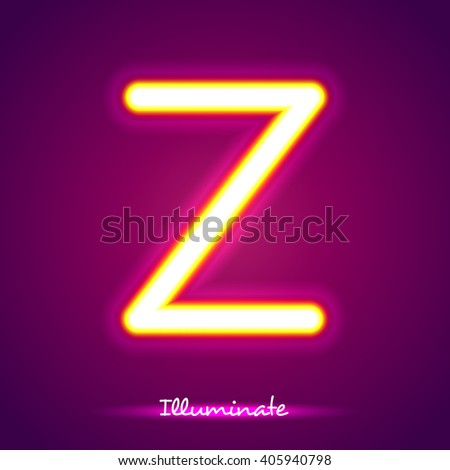 illumination z - stock vector