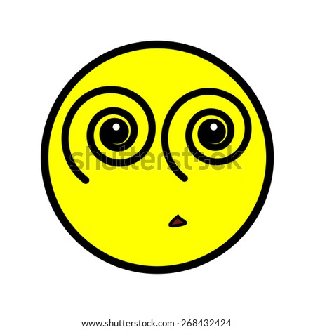 Illusion Eyes Smiley - stock vector