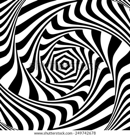 Illusion of vortex movement. Abstract op art design. Vector art. - stock vector