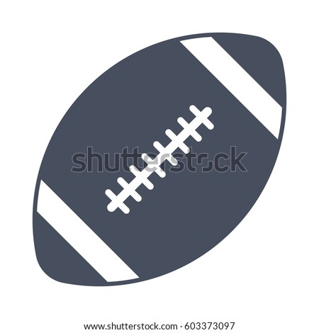 Illustartion of american football ball isolated on white background