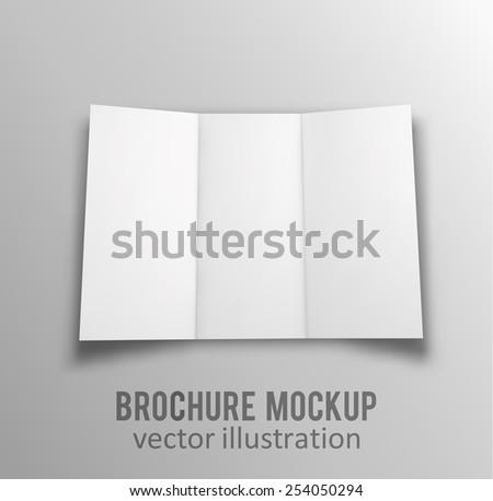 Illustartion of Blank brochure. 3d illustration - stock vector