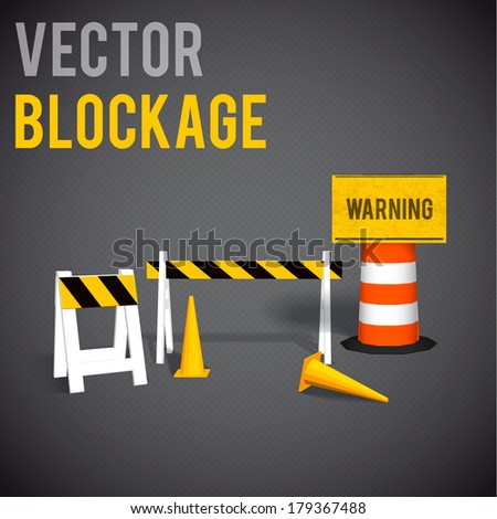 illustartion of blockage.