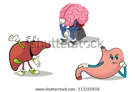 illustrated character set of human internal organs 2 - stock vector