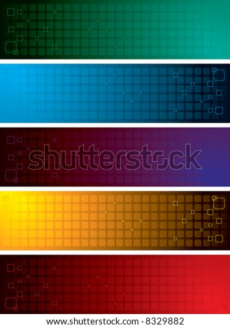 Illustrated collection of colourful bands ideal as a background - stock vector