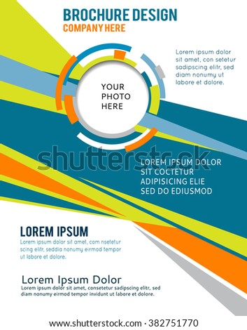 Illustrated colorful layout with abstraction. Magazine cover, business brochure template. - stock vector