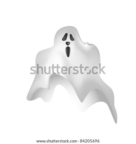 Illustrated ghost cartoon in vector EPS10 format