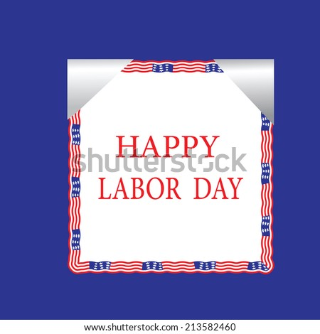 Illustrated labor day text design - stock vector