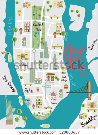 New York City Map Stock Images RoyaltyFree Images Vectors - New york map