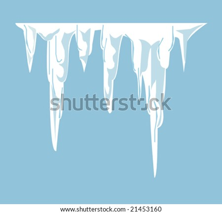 Illustrated melting icicles