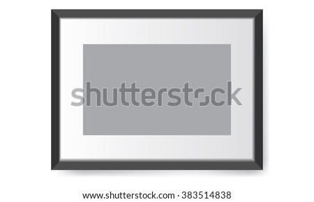 Illustrated realistic photo frame. Perfect for your presentations Vector illustration