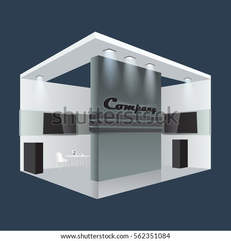 Illustrated Unique Creative Exhibition Stand Display Design Info Board Roll Up Empty Trade Booth