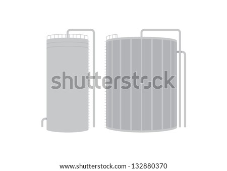 Illustrated vector Bio gas production / storage facility