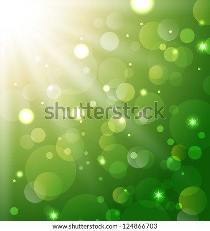 Illustration abstract background with bokeh effect - vector