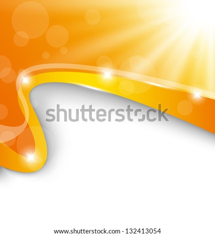 Illustration abstract background with sun light rays - vector - stock vector