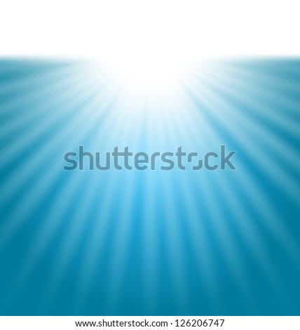 Illustration abstract background with sunbeam - vector